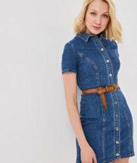 Платье джинсовое Befree Befree MP002XW1IBZ2