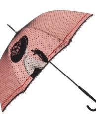 Зонт-трость FLIORAJ 121202 горошек розовый