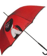 Зонт-трость FLIORAJ 121203 горошек красный