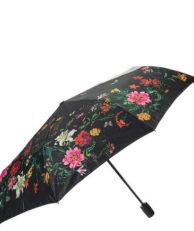 Зонт FLIORAJ 190221 цветочный принт черный