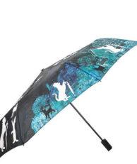 Зонт FLIORAJ 210207 мультиколор черный