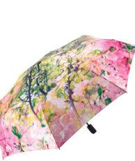 Зонт FLIORAJ 231216 цветочный принт розовый