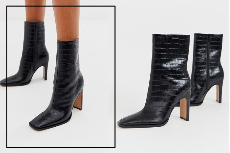 обувь в квадратным мыском