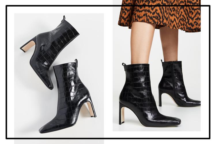 тренды обуви с квадратным носом