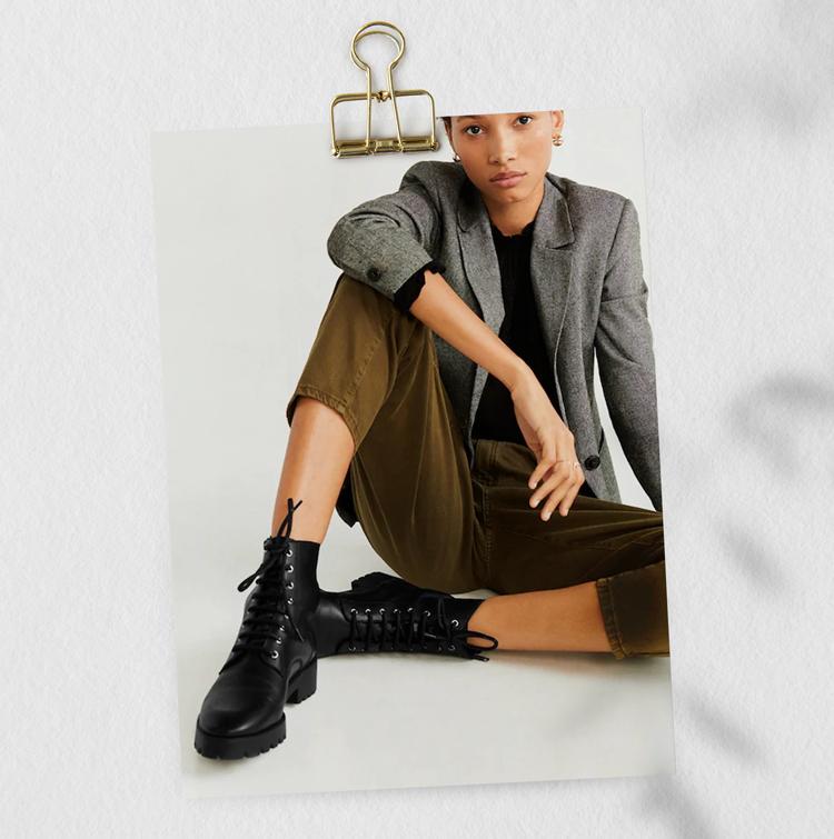 черные ботинки женские