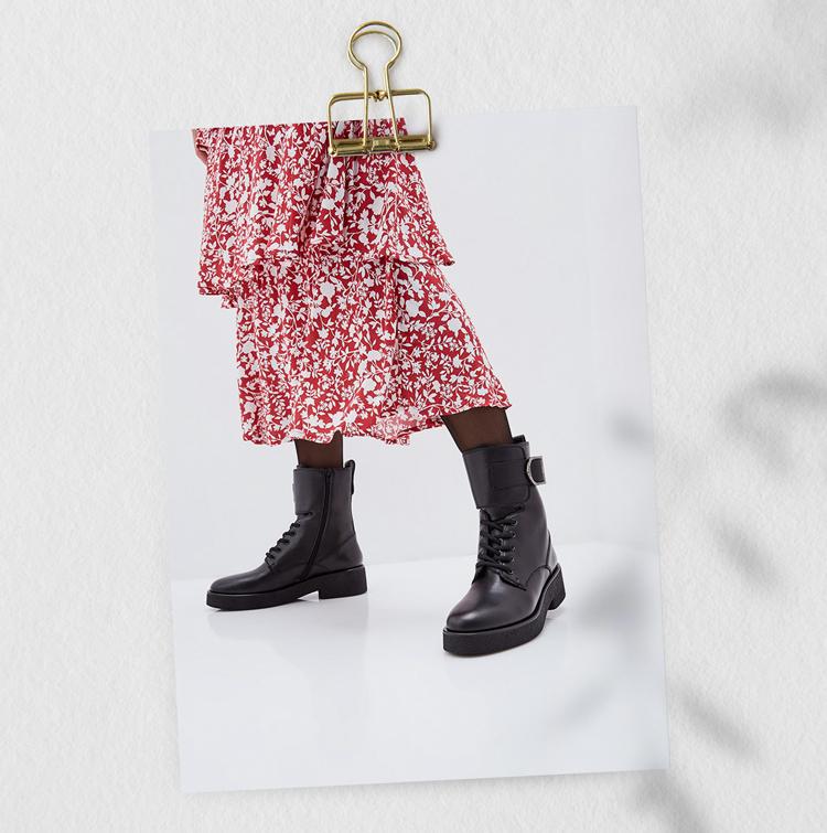 массивные ботинки женские