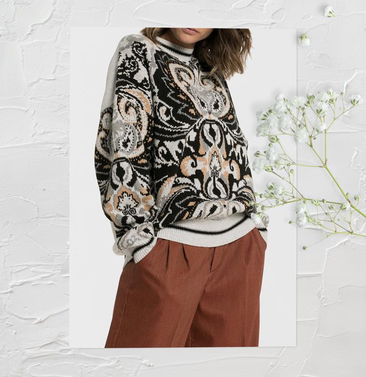 свитер с оригинальным узором
