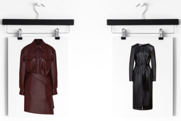 Модные кожаные платья