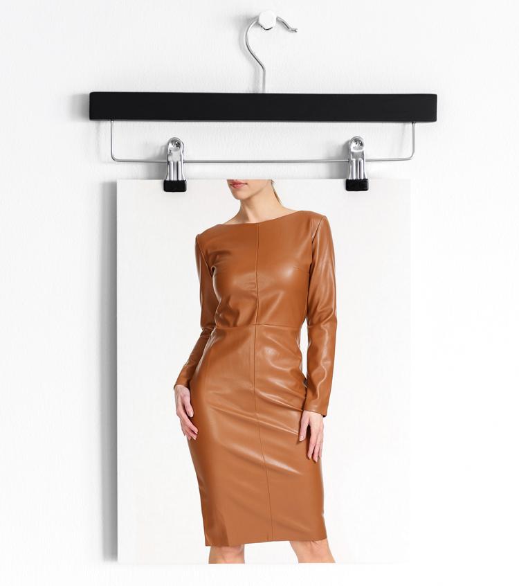 Кожаное платье карандаш