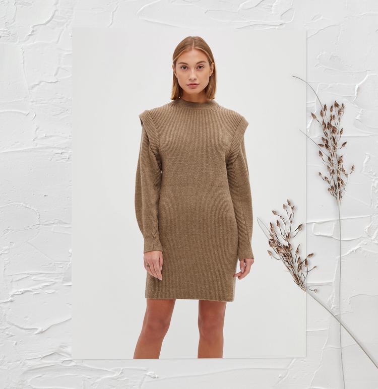 Модное платье-свитер 2019 2020