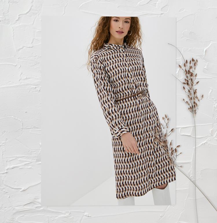 Платье с геометричным принтом