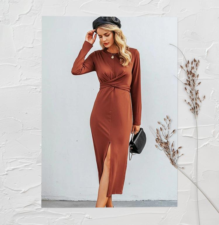 Платье-Карандаш С Разрезом