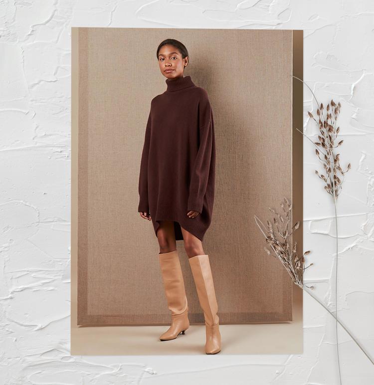 Платье-свитер оверсайз