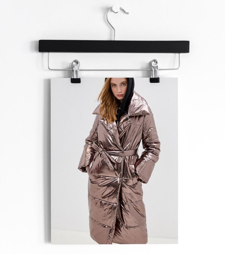 блестящие пальто