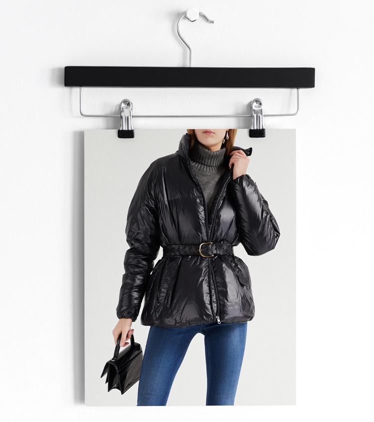 Calvin Klein Стеганая куртка черного цвета с поясом