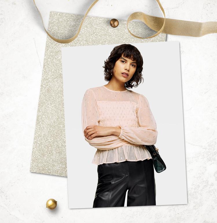 Модная блузка для праздника
