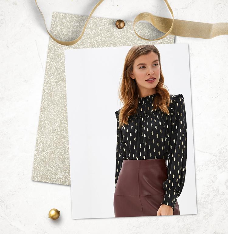Праздничная блузка женская