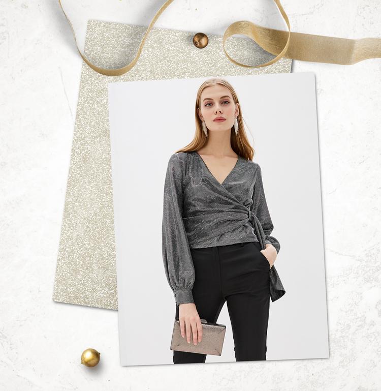 Серебренная блузка