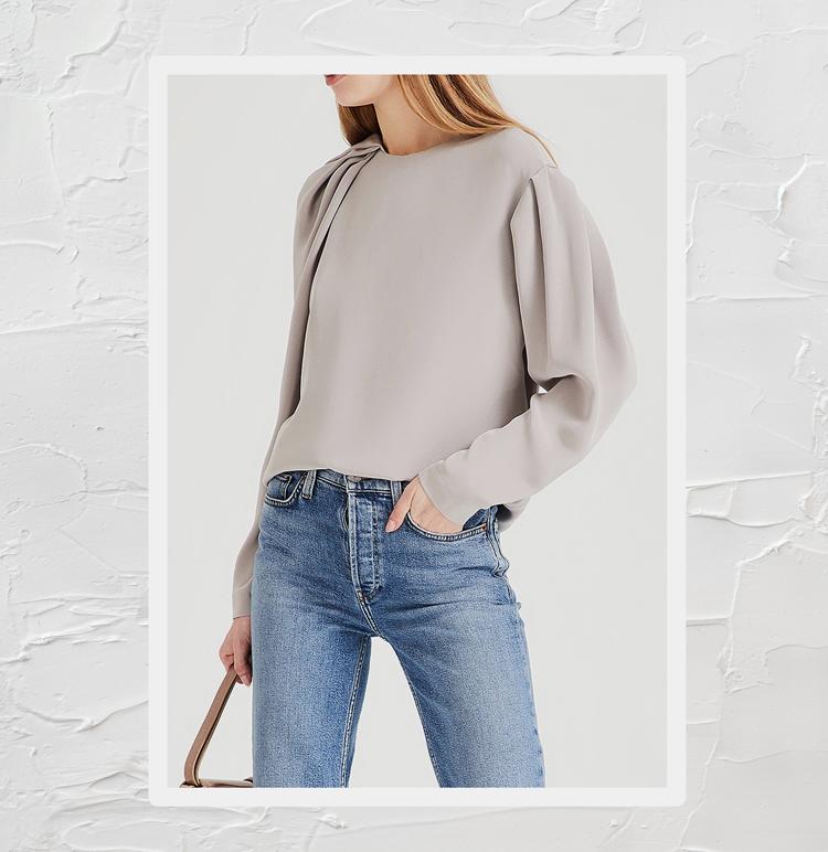 Асимметричная блуза из шелка
