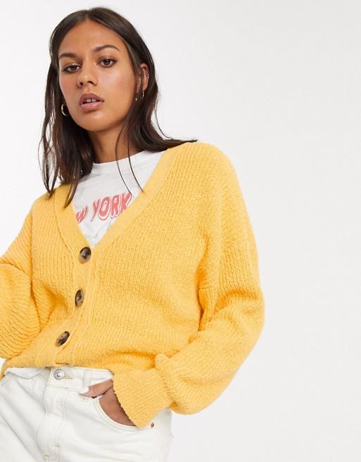 Желтый кардиган Selected Femme