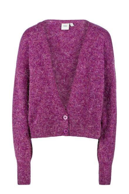 Короткий кардиган фиолетового цвета