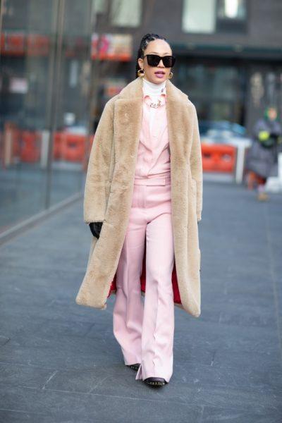 Street style (Стрит стайл) на Неделе моды в Нью-Йорке Fashion Week осень-зима 2020-2021
