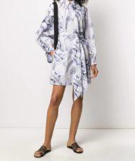 BAUM UND PFERDGARTEN платье-рубашка с цветочным принтом