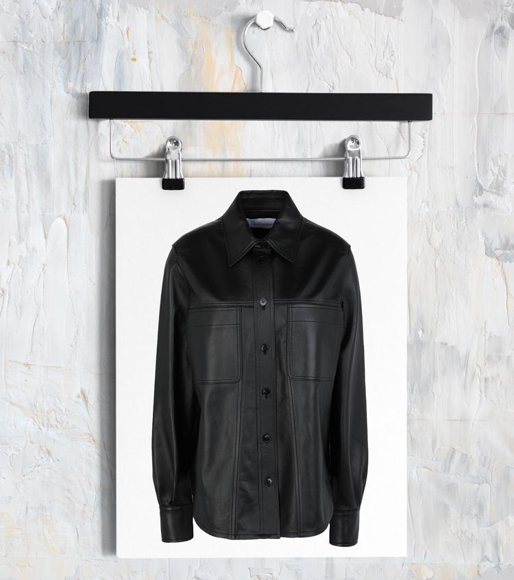 Модная кожаная куртка-рубашка