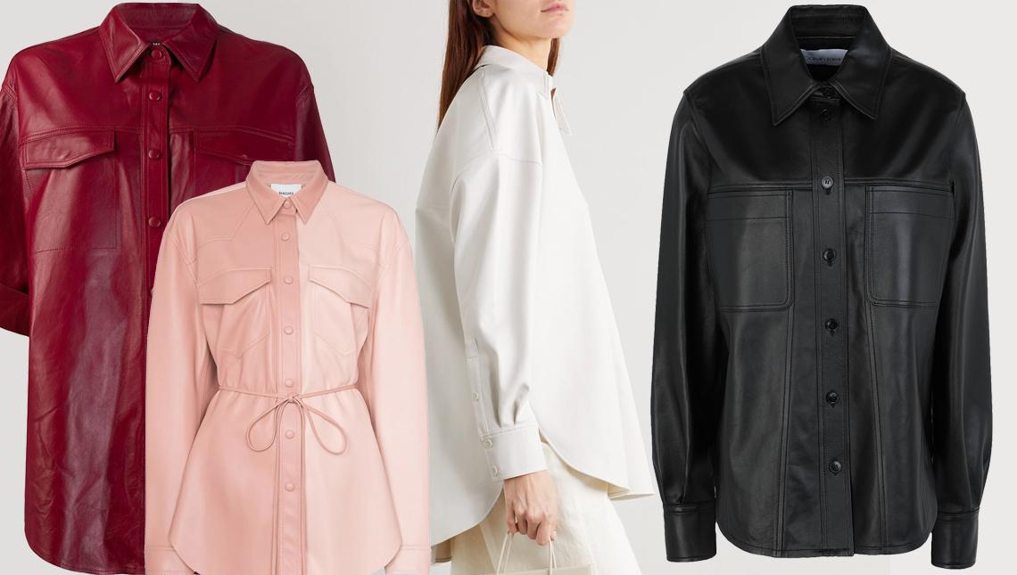 Модные кожаные рубашки 2020