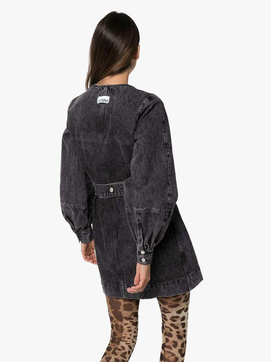 GANNI джинсовое платье мини с запахом