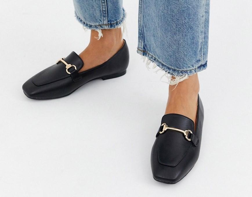 Черные эксклюзивные лоферы с квадратным носком