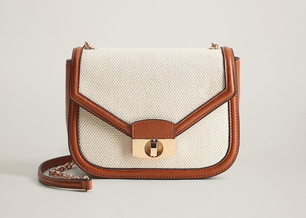Маленькая комбинированная сумка с текстилем