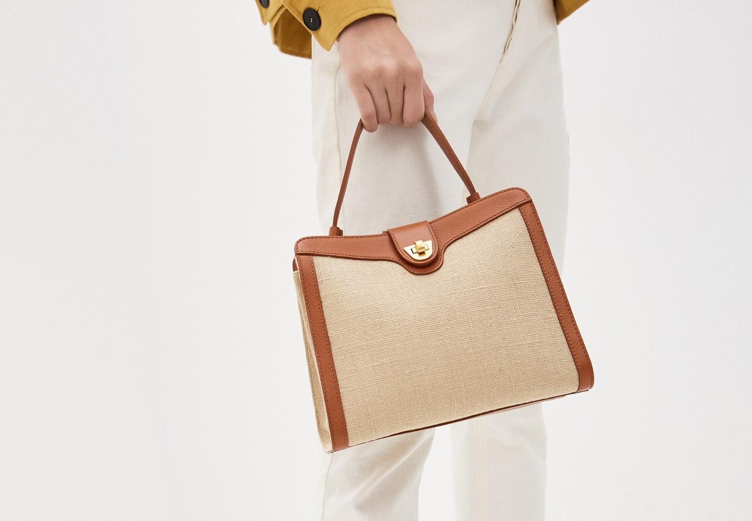 Комбинированная сумка из парусины