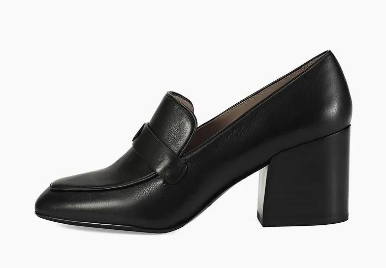 Лоферы на каблуке модный тренд 2020