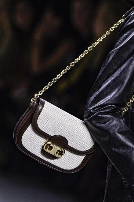 комбинированная сумка из кожи и текстиля