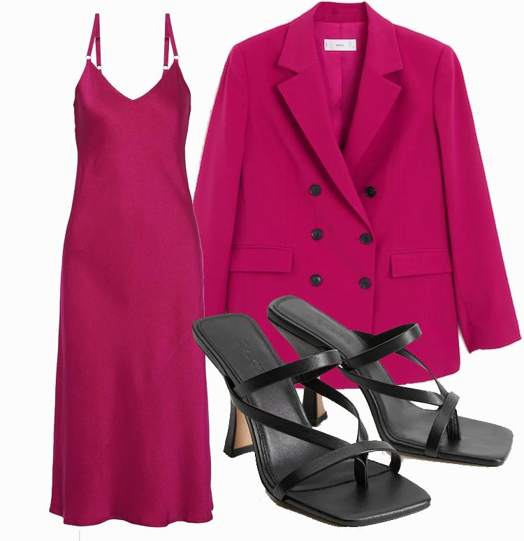 Платье комбинация с пиджаком