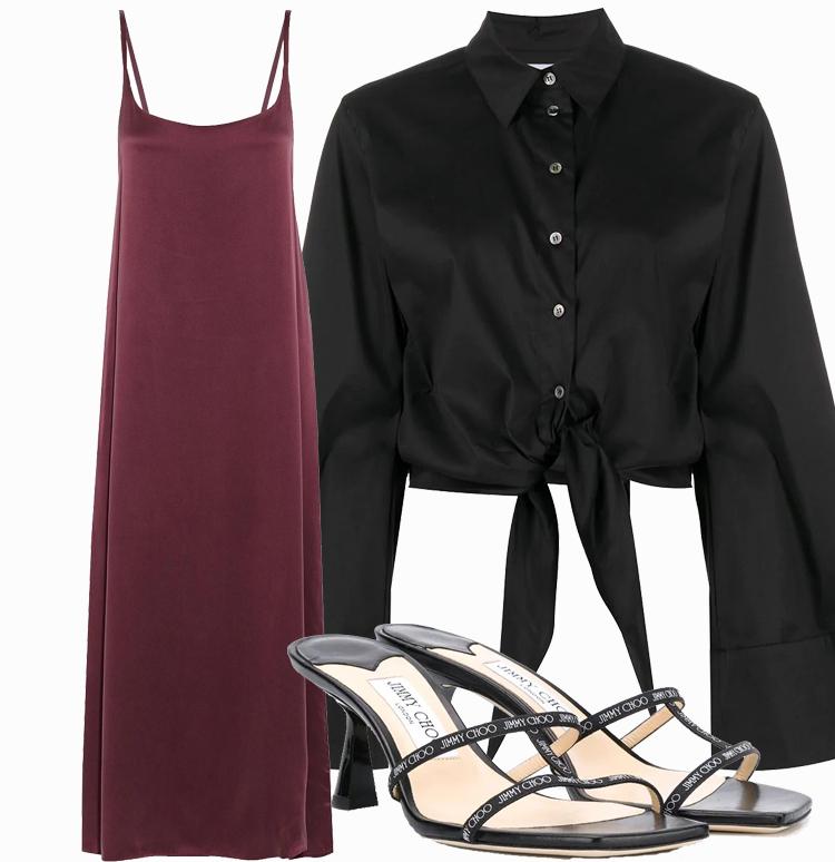 Платье комбинация с рубашкой