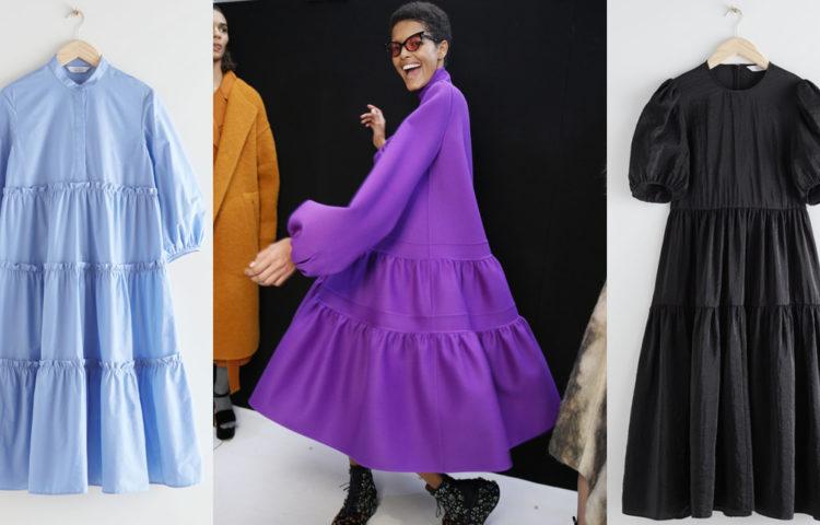 модные ярусные платья 2020 2021