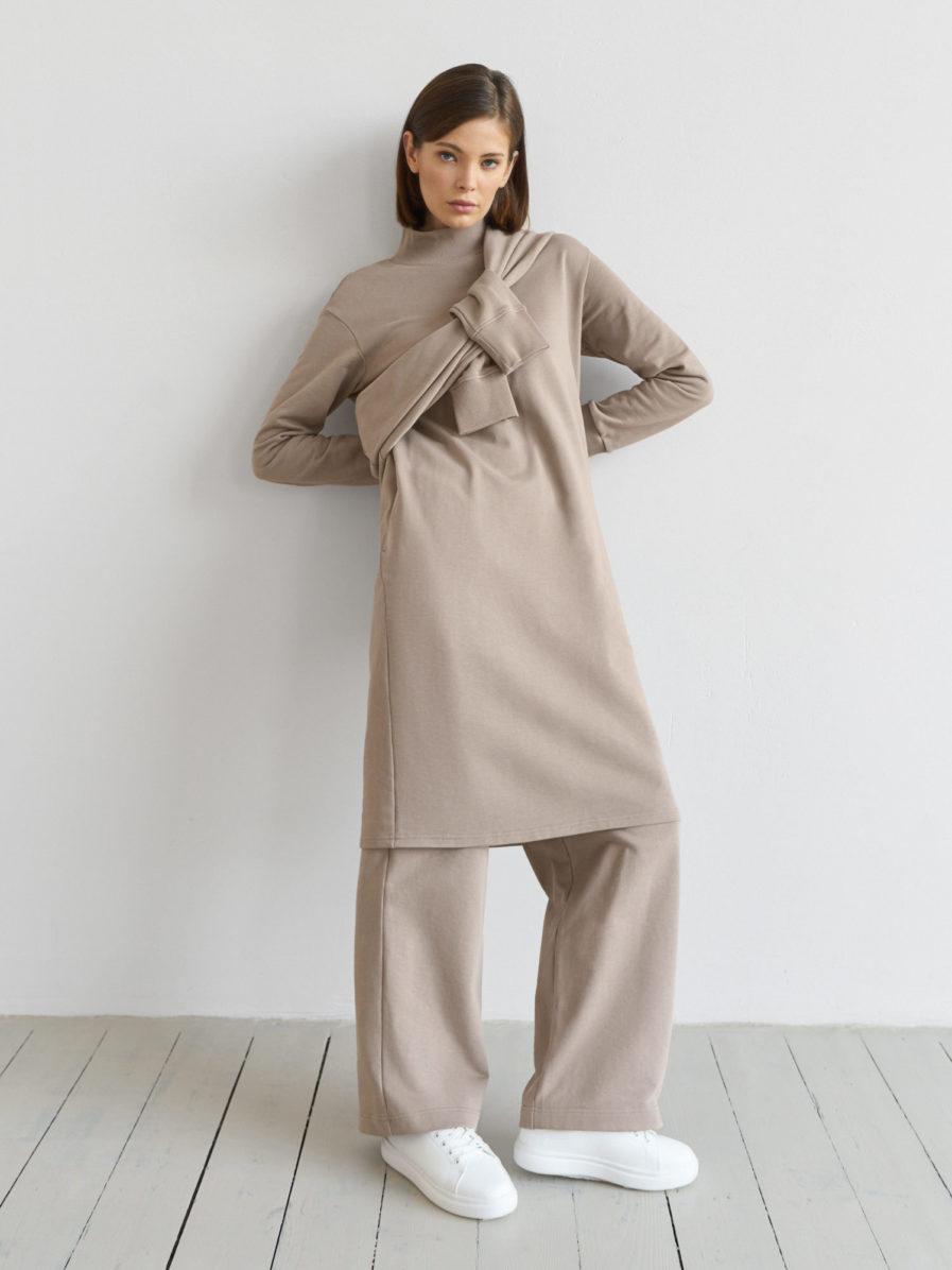 Платье-свитшот Bonnie со стойкой GATE31